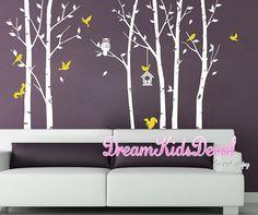 Owl Tree Wall Decal , Nursery, Baby, children wall decal, wall decor, home decor, Wall Stickers -DK167