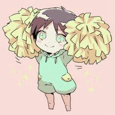 Chibi cheerleader Eren
