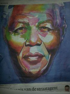 Nelson Mandela portrait by Siegfried Woldhek