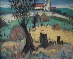 Sylvio Pinto (1918-1997) - Paisagem com Igreja
