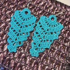 ONE Crochet Earrings Pattern, Crochet Earring Pattern, PDF File -Crochet Long Chic earrings, simple pattern, crochet earrings Crochet Earrings Pattern, Crochet Jewelry Patterns, Crochet Motif, Crochet Lace, Crochet Stitches, Crochet Gifts, Earrings Handmade, Jewelry Crafts, Crochet Projects