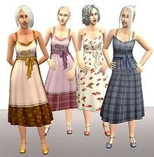 Mod The Sims - Freetime Cooking Dress converted for Grandma