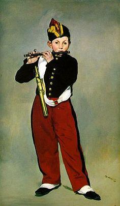 Manet, Edouard - Young Flautist, or The Fifer, 1866 (2) - Le Joueur de fifre — Wikipédia