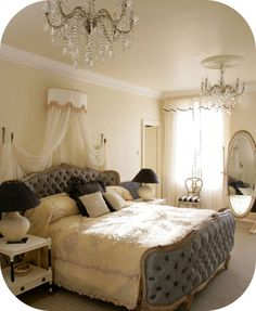 Love the corbeille bed.