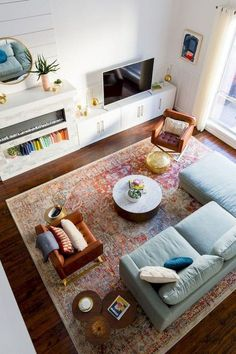 Big Reveal: We Finally Have Our Finished Living Room Makeover by top Houston lif… – Living Room Furniture – Living Room Ideas Living Room Interior, Apartment Living, Rugs In Living Room, Living Room Decor, Room Rugs, Living Room Layout With Fireplace And Tv, Living Room Layouts, Small Living Room Layout, Small Room Design