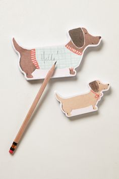 Dachshund Sticky Notes - Anthropologie.com - Illustration by Heather Strianese