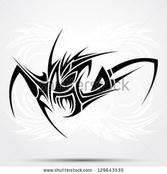 Tribal tattoo abstraction - stock vector