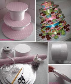Cupcake stand, did this for my baby shower a couple of years ago.. it was easy, fun & turned out adorable!!