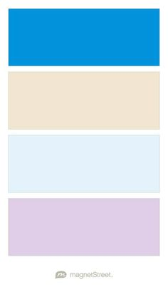 Cornflower, Champagne, Ice, and Lavender Wedding Color Palette - custom color palette created at MagnetStreet.com