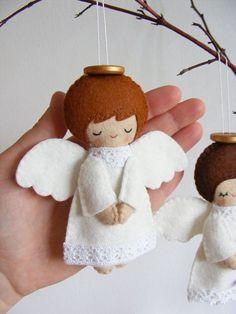PDF pattern Felt angels. Christmas tree ornaments por iManuFatti Más