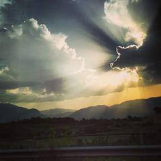 Tramonto sulla valle Dell'Orfento. Majella Morrone