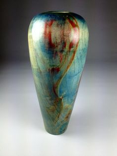 Blue Box Elder Hollow Form Wood Vase. via Etsy.