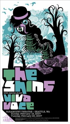 The shins gig poster $24 etsy seller grossnational (Shawn Wolfe)