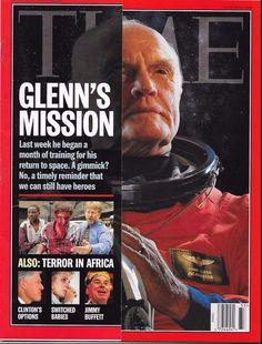 TIME MAGAZINE AUGUST 17 1998 8/17/98 GLENN'S MISSION Terror in Africa LEWINSKY