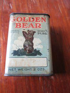 Golden Bear 2 oz Spice Tin