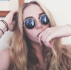 Blonde, Hippie, Circle-Glasses, teenager, aesthetic, pretty, girl, vacation, pale