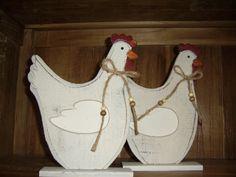 wooden easter chiken