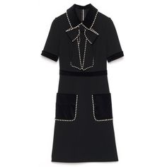554dd09662e07 Gucci Black Velvet Embroidered Dress (5 795 BGN) ❤ liked on Polyvore  featuring dresses