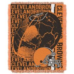 Northwest NFL Cleveland Browns Triple Woven Jacquard Throw Blanket