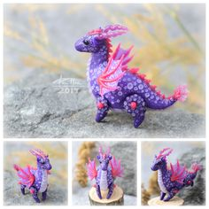 """dallia-art: """"Dragons with moving legs and wings. Height and length vary from 3.5 cm to 5 cm. Colored polymer clay, no paint. """""""