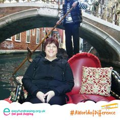 """#aworldofdifference Gondola time! I loved my weekend trip to venice in December as it was at the end of a horrible year, did me the world of good as you can see from my face!"" #Travel #Holiday"