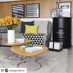 Jeito de Casa: Decoração da sala com almofadas geométricas