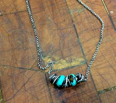 Sterling Silver Turquoise Nest Necklace by mLindvall on Etsy, $73.00