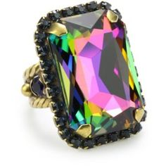 "Sorrelli ""Aurora Sky"" Adjustable Cocktail Ring $35"