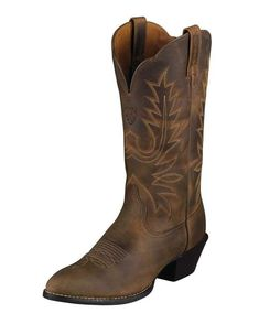 Women's Heritage Western R Toe Boot - Distressed Brown ARIAT. http://www.countryoutfitter.com/products/27875-womens-heritage-western-r-toe-boot-distressed-brown