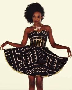 African inspired frock.