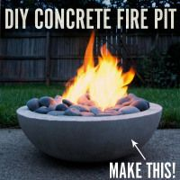 DIY Modern Concrete Fire Pit from Scratch