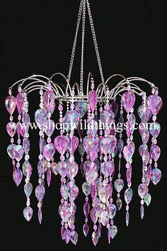 Purple Chandelier Fountain