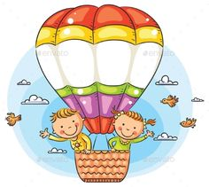Happy cartoon kids travelling by air with copy space across the. - Happy cartoon kids travelling by air vector art illustration Happy Cartoon, Cartoon Kids, Cartoon Art, Cartoon Memes, Cartoon Drawings, Cartoon Characters, Drawing For Kids, Art For Kids, Crafts For Kids