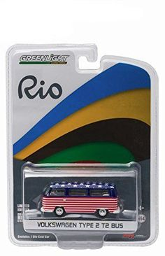 2016 World Games Rio Olympics Volkswagen Type 2 Bus Team USA 1/64 by Greenlight 51037-USA