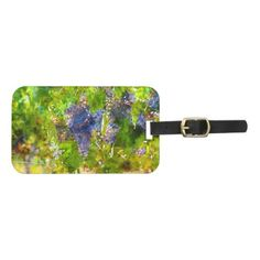 Red Wine Grapes on the Vine Luggage Tag