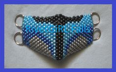 Jango Fett inspired Cyber Raver Kandi D-ring mask by RivetGiRL Falls
