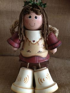 Angel flower pot doll