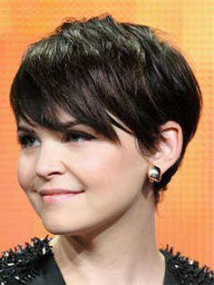 Short Haircuts for Round Shaped Faces: Pixie Haircut, Ginnifer Goodwin #PixieHaircut