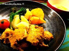 •タンドリーチキン •温野菜 •豆腐とキャベツの味噌汁  初タンドリーチキンでしたが、子供もモリモリ食べててひと安心でした〜(*´ェ`*) - 15件のもぐもぐ - タンドリーチキンと温野菜(*´°`*) by hoshidama