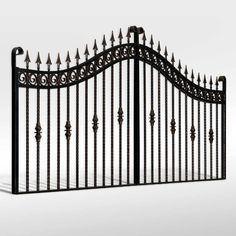 Buy The 'Rossmore' Wrought Iron Driveway Gate from The Iron Gate Shop UK, Unlike other gate companies we can offer 0% finance and free UK Mainland delivery on our products.