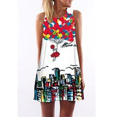 Sannysis Vintage Boho Women Summer Sleeveless Beach Printed Short Mini Dress M * Check out this great product.