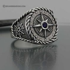 Men's Compass Ring. Love!!!