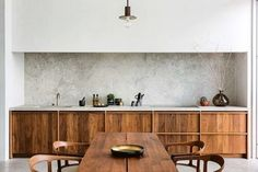 House tour: a beautifully modern penthouse apartment in Antwerp - Vogue Living Farmhouse Style Kitchen, Home Decor Kitchen, Kitchen Interior, Home Kitchens, Kitchen Dining, Stone Kitchen, Design Kitchen, Dining Area, Kitchen Ideas