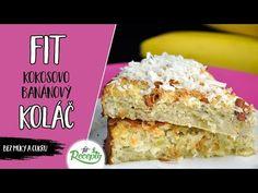 Tento kokosovo-banánový koláč mám velmi ráda, a to zejména z důvodů, že je zcela bez cukru a bez mouky, je nenáročný na suroviny a tak jednoduchý na přípravu. Člověk by ani nevě... Krispie Treats, Rice Krispies, Vanilla Cake, Sweet Recipes, Gluten Free, Healthy, Desserts, Food, Vanilla Sponge Cake