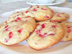 Strawberry cheesecake without all of the work! Creamy strawberry melt in your mouth goodness! Easy to make and quick to bake, these cookies are a great springtime luncheon treat. This is what you do with all of the sweet strawberries in markets now. Bet you can't eat just one. I know, I tried!! Thank you Pinterest @juliasalbum.