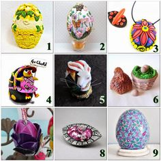 Polymer Clay Artists Guild of Etsy (PCAGOE): March Challenge: Eggs and Egg Shapes
