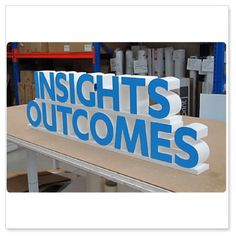 EPS styrofoam letters suitable for outdoor and indoor use