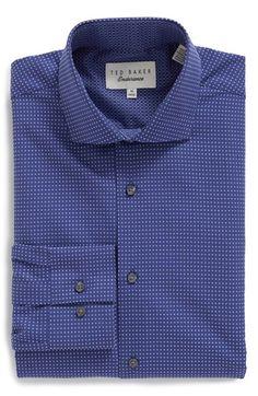 YUNY Mens Slim-fit Windowpane Tops Casual Comfortable Dress Shirt Beige White XL