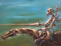 La charge de Don Quichotte. Di-credico.com