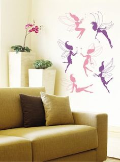 Deluxe Fairy Wall Stickers - Removable and Repositionable - Girls / Kids Bedroom from Wall Stickers Warehouse Kids Room Wall Stickers, Wall Decals, Girls Bedroom, Bedroom Decor, Bedroom Ideas, Fairy, Warehouse, Decor Ideas, Amazon
